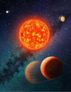 Kepler-138b, wizja artystyczna, fot: SETI Institute/Danielle Futselaar